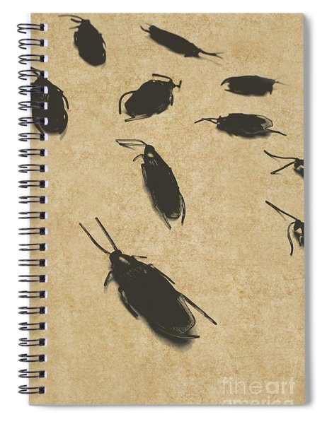 Vintage Infestation Spiral Notebook