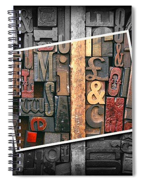 Vintage Inked Typeface Spiral Notebook