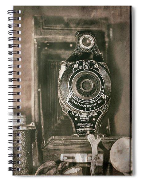 Vintage Kodak Camera Spiral Notebook