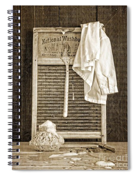 Vintage Laundry Room Spiral Notebook