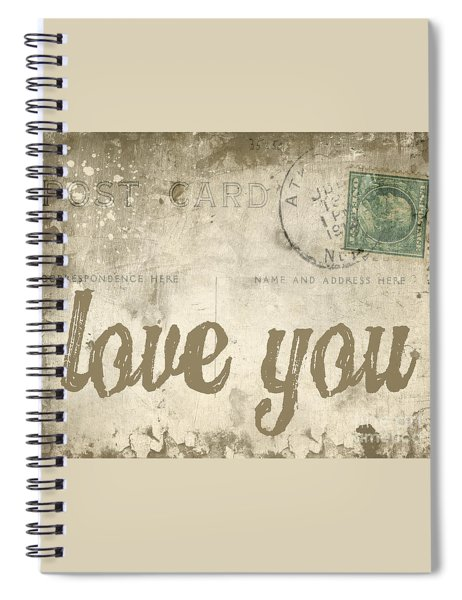 Spiral Notebook featuring the photograph Vintage Love Letters by Edward Fielding