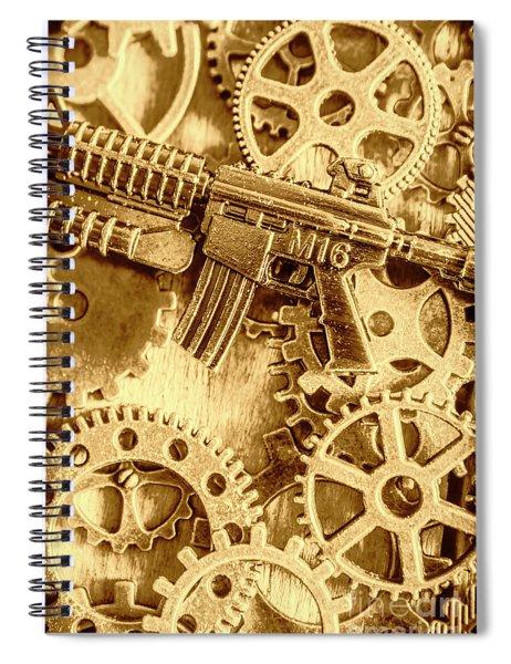 Vintage M16 Artwork Spiral Notebook
