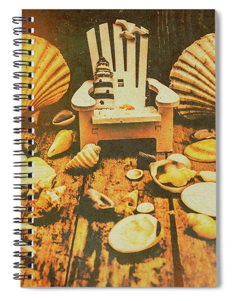 Vintage Marine Scene Spiral Notebook