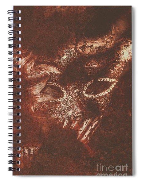 Vintage Masquerade Spiral Notebook