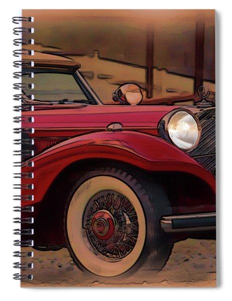 Vintage Mercedes Spiral Notebook