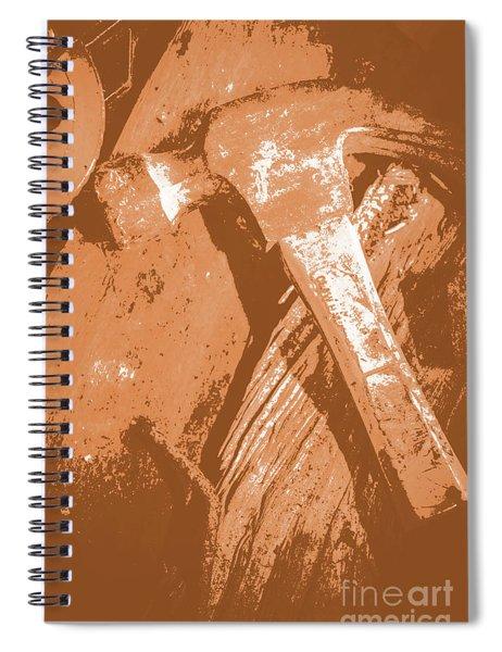 Vintage Miners Hammer Artwork Spiral Notebook