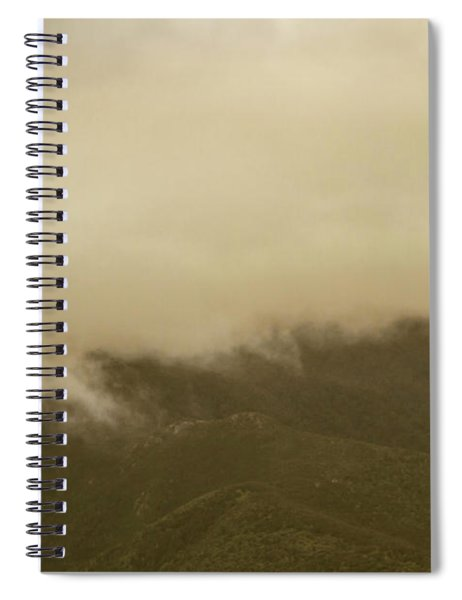 Vintage Mountains Covered By Cloud Spiral Notebook