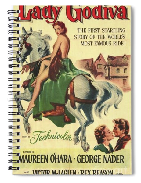 Vintage Movie Posters, Lady Godiva Spiral Notebook
