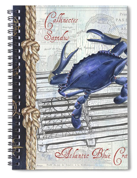 Vintage Nautical Crab Spiral Notebook