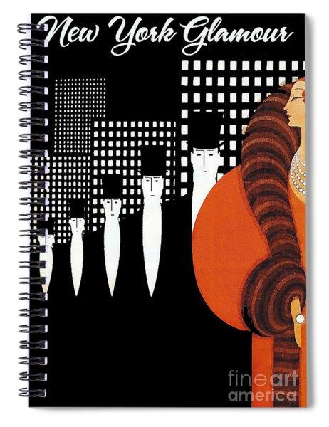 Vintage New York Glamour Art Deco Spiral Notebook