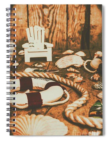 Vintage Ocean Porthole Spiral Notebook