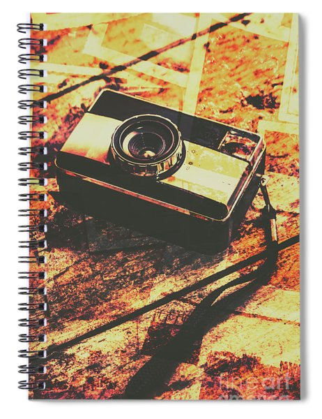 Vintage Old-fashioned Film Camera Spiral Notebook