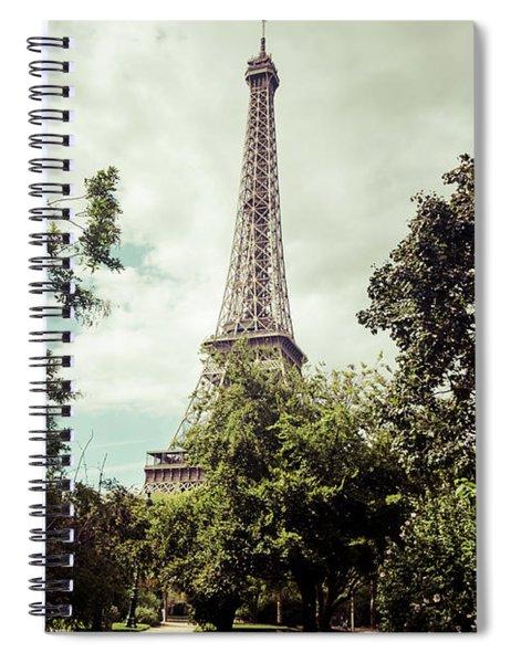 Vintage Paris Landscape Spiral Notebook