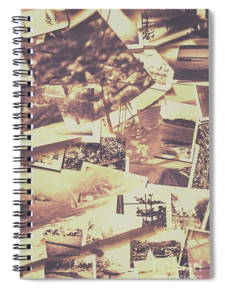 Vintage Photo Design Abstract Background Spiral Notebook