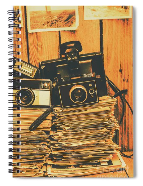 Vintage Photography Stack Spiral Notebook