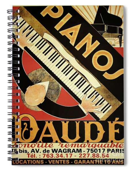 Vintage Piano Art Deco Spiral Notebook