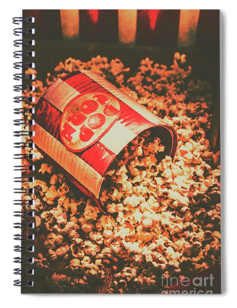Vintage Popcorn Tin. Faded Films Still Life Spiral Notebook