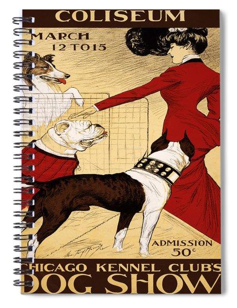 Vintage Poster - Chicago Kennel Club's Dog Show Spiral Notebook