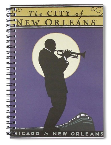 Vintage Poster - City Of New Orleans Spiral Notebook