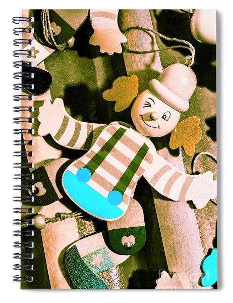 Vintage Pull-string Puppet Carnival Spiral Notebook