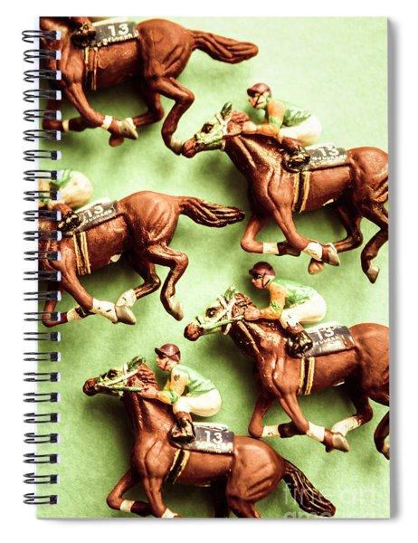 Vintage Racehorse Art Spiral Notebook