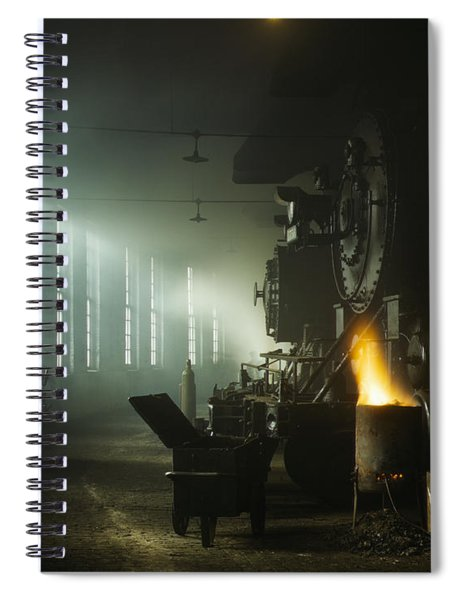 Vintage Railroad Roundhouse - Chicago 1942  Spiral Notebook