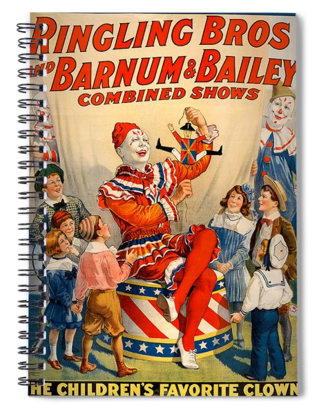 Vintage Ringling Brothers And Barnum And Bailey Combined Circus Spiral Notebook