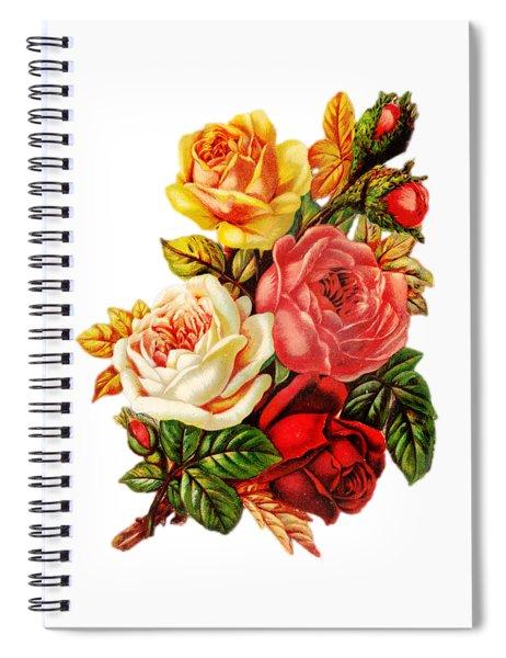 Vintage Rose I Spiral Notebook by Kim Kent