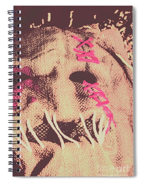 Vintage Scarecrow Mask Spiral Notebook