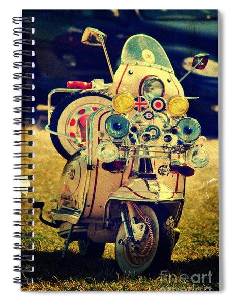 Vintage Scooter Spiral Notebook