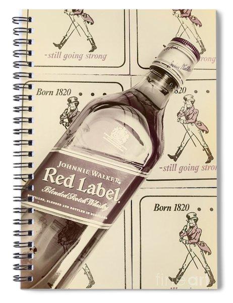 Vintage Scotch Whisky Pub Artwork Spiral Notebook