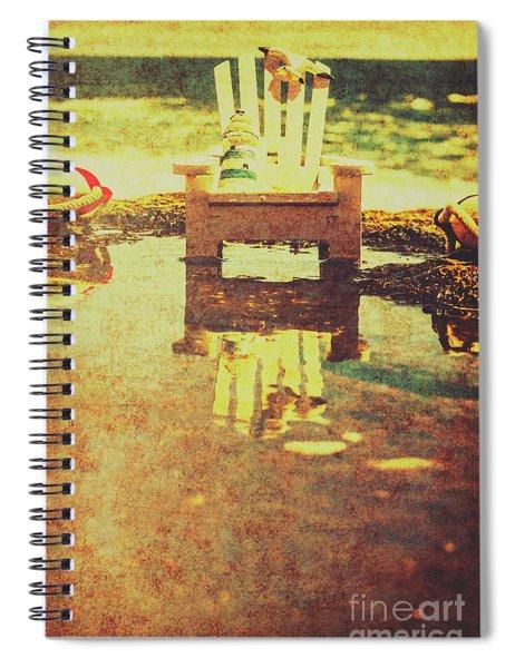 Vintage Seaside Vacationing Spiral Notebook
