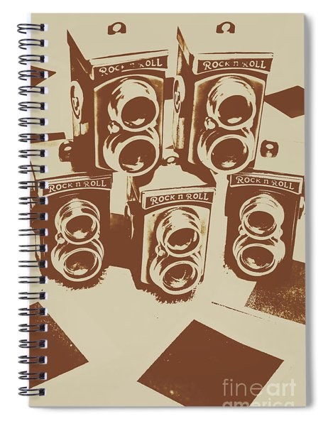 Vintage Snapshots And Old Cameras Spiral Notebook