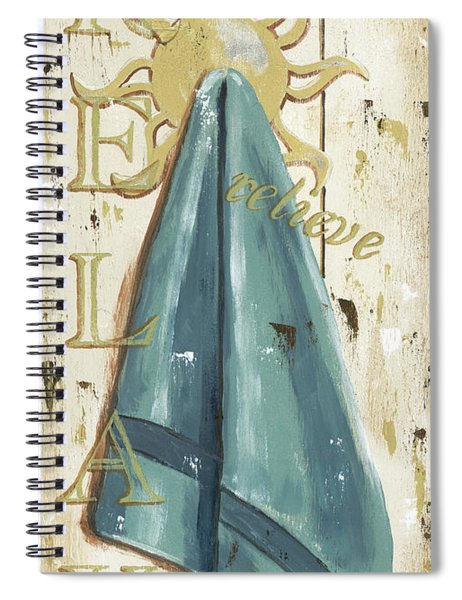 Vintage Sun Beach 2 Spiral Notebook