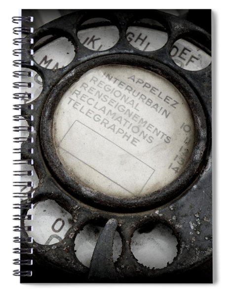 Vintage Telephone Spiral Notebook
