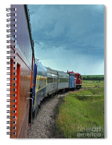 Vintage Train Spiral Notebook
