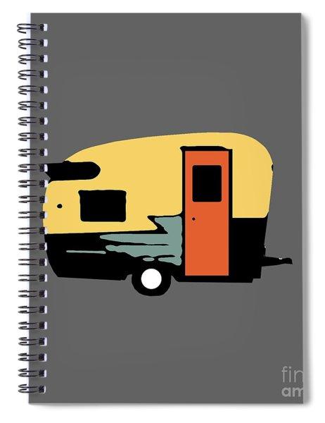 Vintage Travel Camper Transparent Spiral Notebook by Edward Fielding