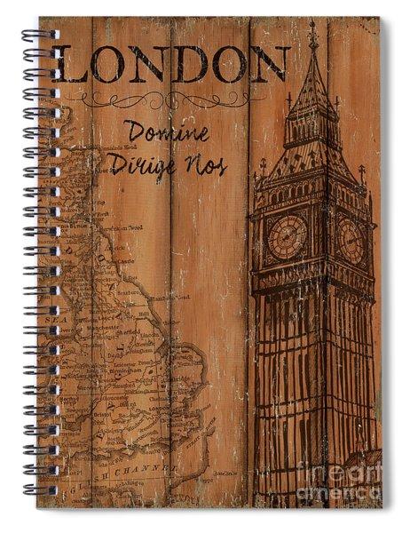 Vintage Travel London Spiral Notebook