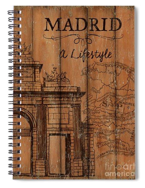 Vintage Travel Madrid Spiral Notebook