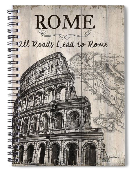 Vintage Travel Poster Spiral Notebook