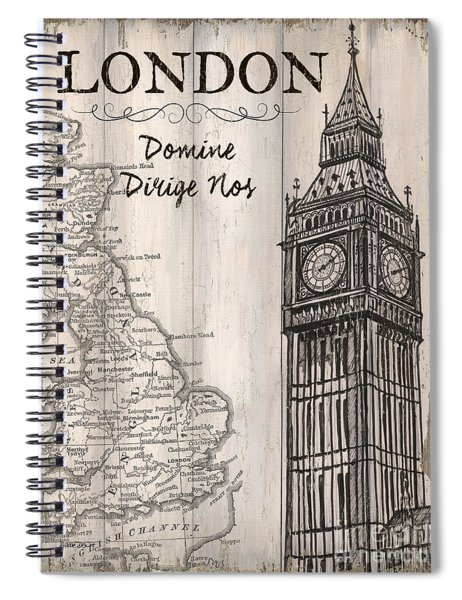 Vintage Travel Poster London Spiral Notebook