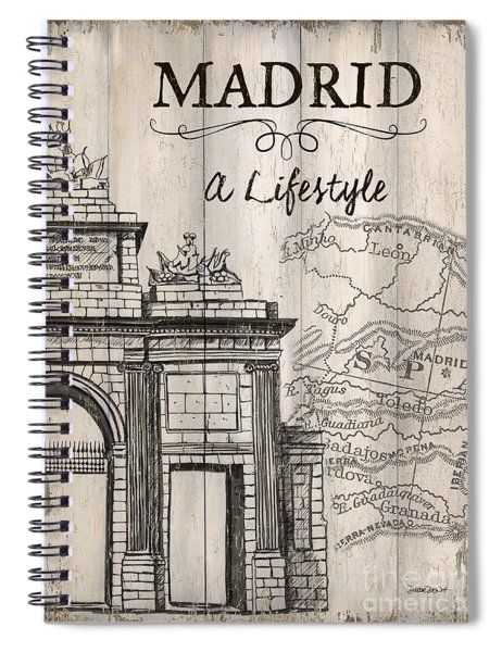 Vintage Travel Poster Madrid Spiral Notebook