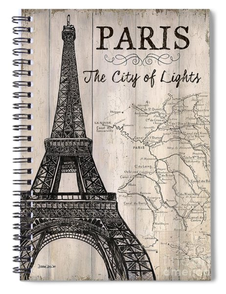 Vintage Travel Poster Paris Spiral Notebook