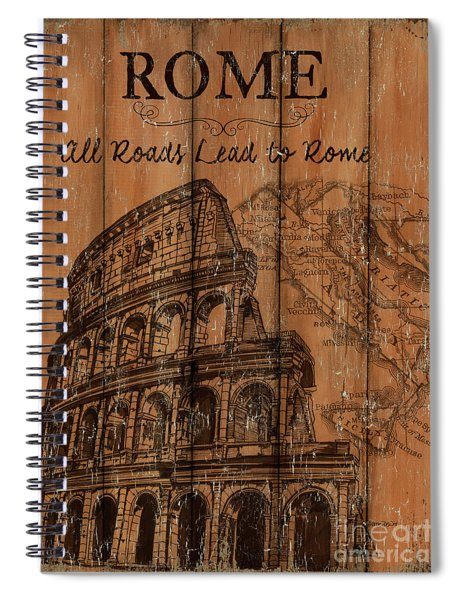 Vintage Travel Rome Spiral Notebook