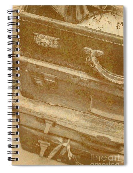Vintage Travel Stack Spiral Notebook