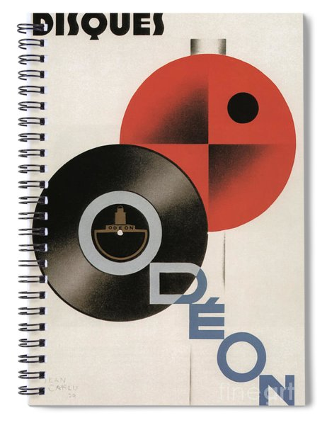 Vintage Vinyl Records Art Deco Spiral Notebook