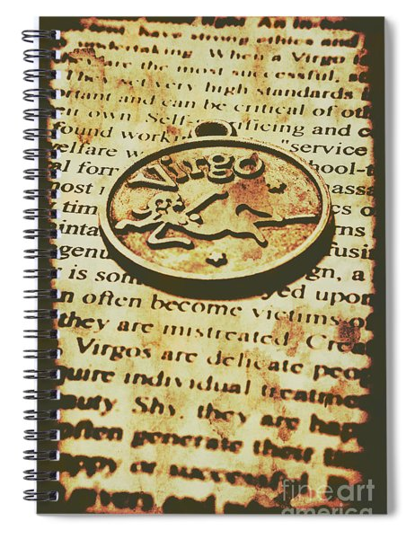 Vintage Virgo Token Scroll Spiral Notebook