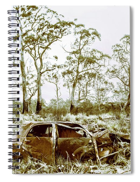 Vintage Winter Car Wreck Spiral Notebook