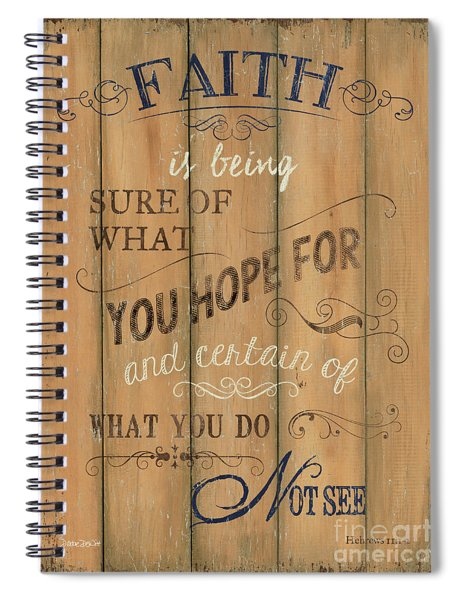 Vintage Wtlb Faith Spiral Notebook