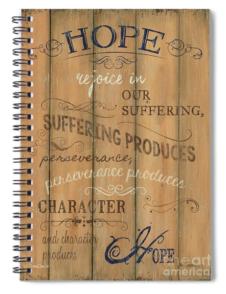 Vintage Wtlb Hope Spiral Notebook